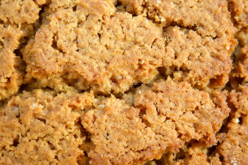 Oat biscuits top view stock images