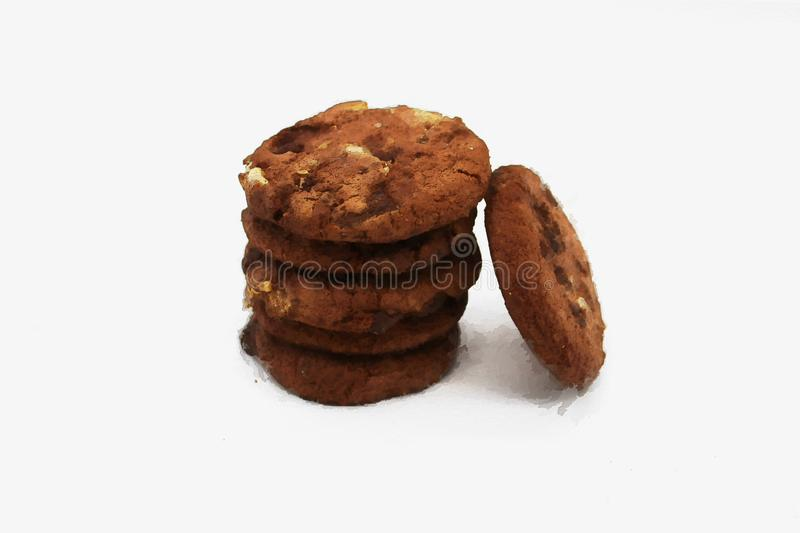 Oat cookies. Isolated image on white background.  stock photos