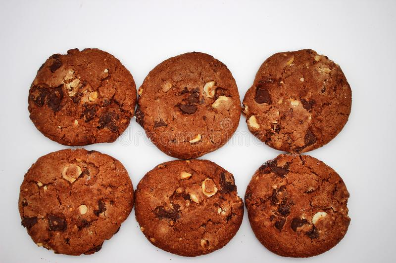 Oat cookies. Isolated image on white background.  royalty free stock image