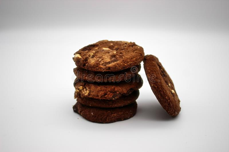 Oat cookies. Isolated image on white background.  stock images