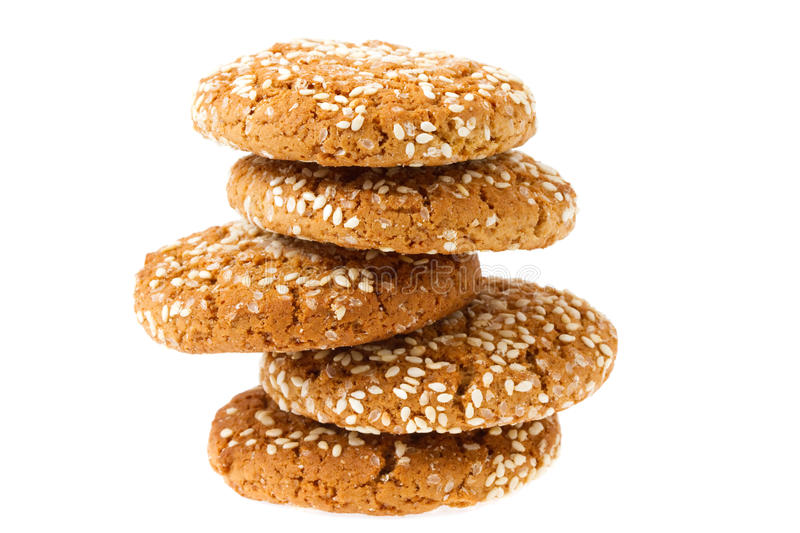 Download Oat cookies isolated stock photo. Image of brown, food - 30160108