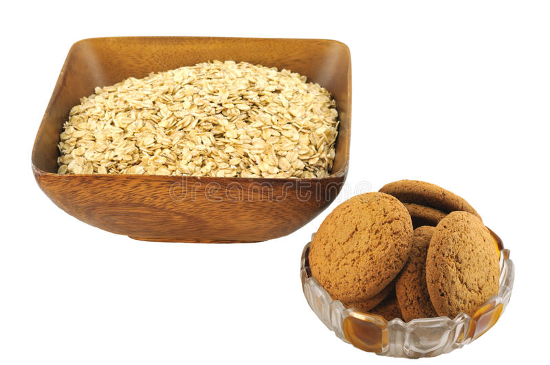 Oat Flakes And Biscuits Stock Photos