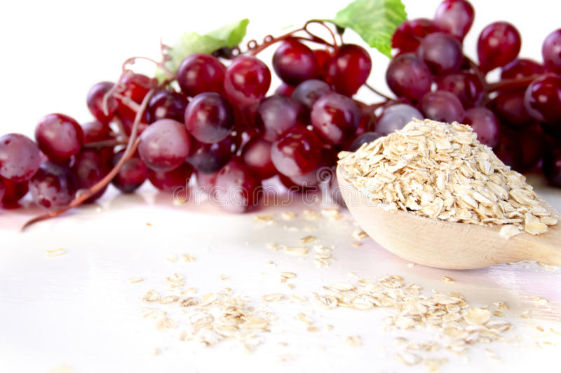 Download Oat flakes and grapes stock image. Image of lunch, diet - 20793889