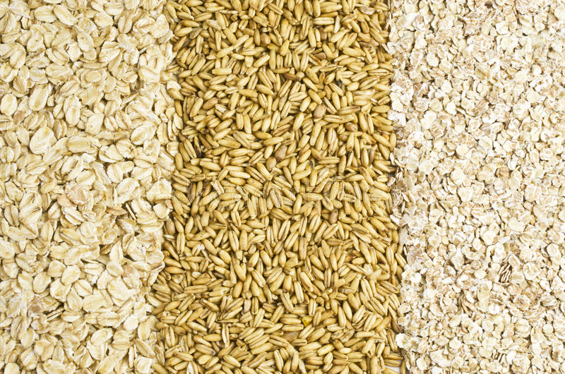 Oat and oat flakes royalty free stock image
