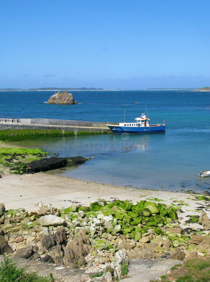 Download Oat At St. Agnes Quay, Isles Of Scilly. Stock Photo - Image: 8138810