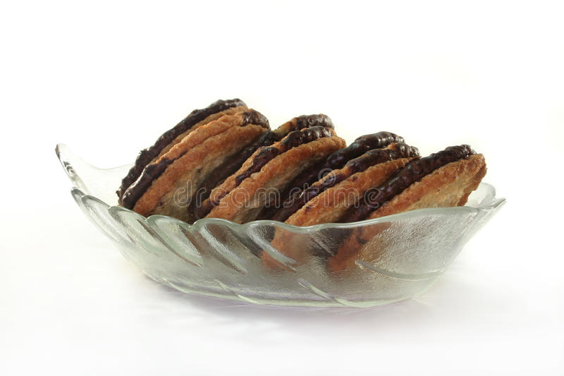Oatcake. Danish oat biscuits on a white background stock photography