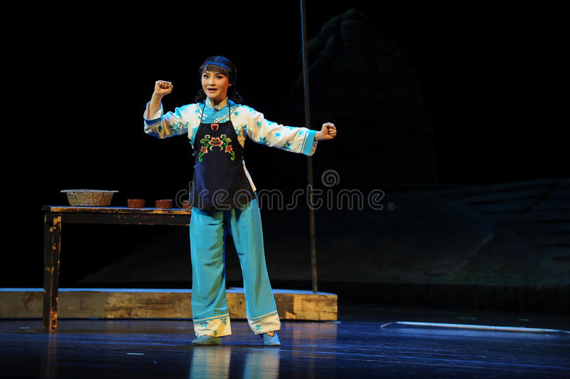 Oath- Jiangxi opera a steelyard. Jiangxi opera a steelyard is adapted from a true story: the last century fortys, the protagonists father runs an oil mill in the royalty free stock photo