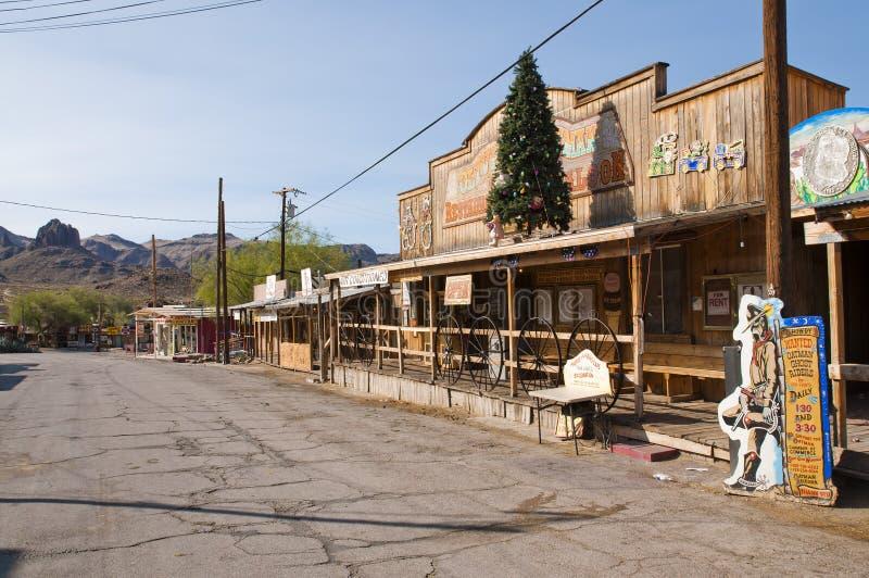 OATMAN - Città fantasma lungo Route 66 fotografia stock libera da diritti