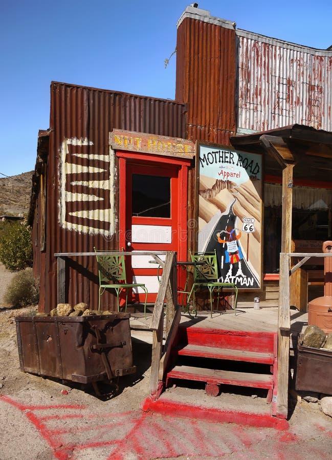 Oatman, città fantasma, Route 66 storico, Arizona immagini stock