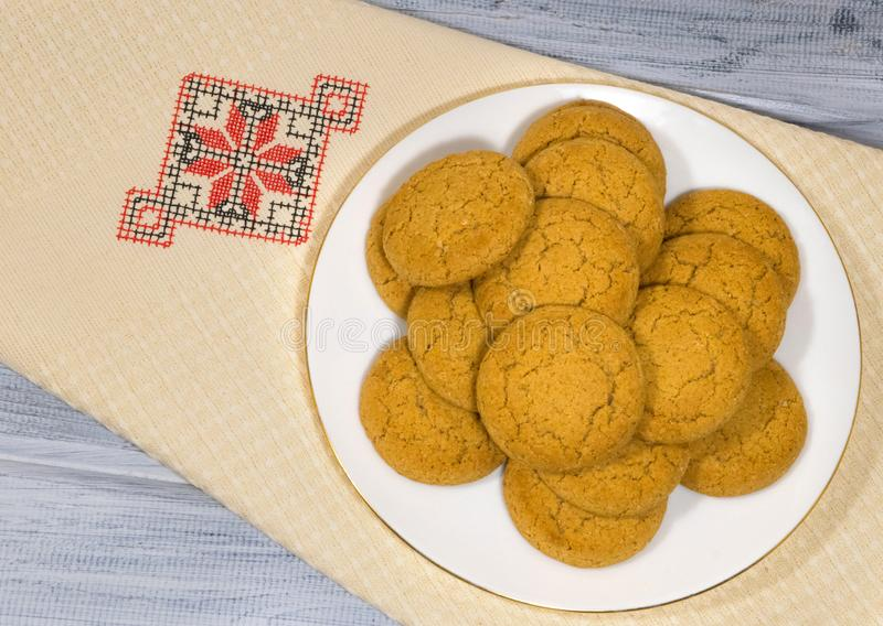oatmeal ζωής μπισκότων ακόμα στοκ εικόνες