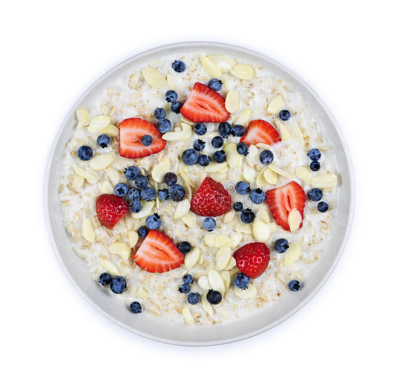 oatmeal κύπελλων μούρων στοκ φωτογραφία με δικαίωμα ελεύθερης χρήσης
