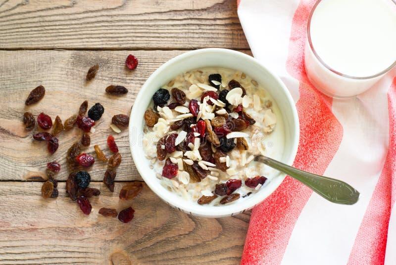 Oatmeal με ξηρό - φρούτα στοκ εικόνα με δικαίωμα ελεύθερης χρήσης