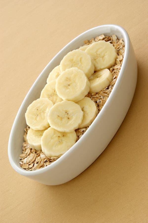oatmeal μπανανών τεμαχίζει μερικώ& στοκ φωτογραφίες
