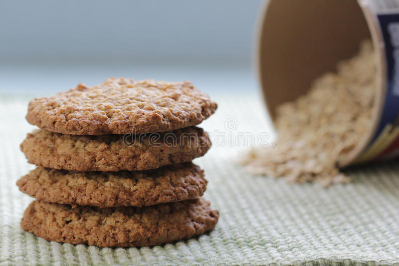 Oatmeal μπισκότα στοκ φωτογραφία