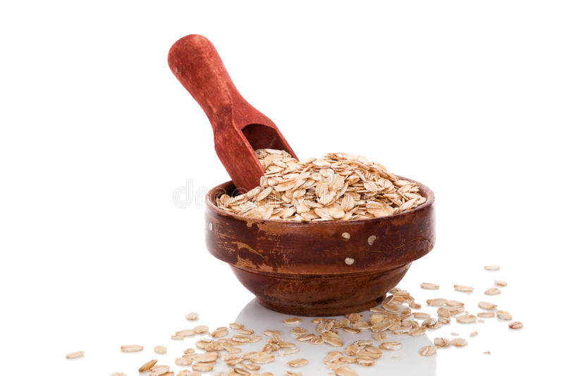 Oatmeal νιφάδες κατανάλωση υγιής στοκ φωτογραφία με δικαίωμα ελεύθερης χρήσης