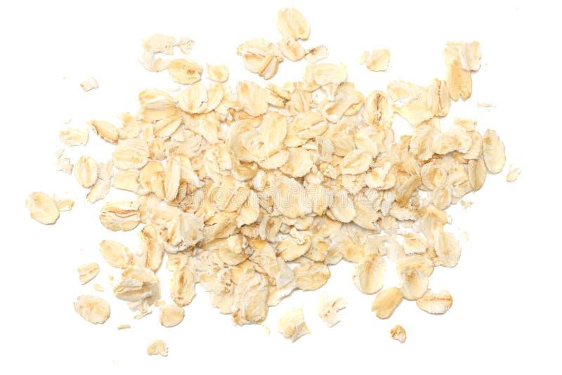 Oatmeal που απομονώνεται στο άσπρο υπόβαθρο Τοπ όψη στοκ φωτογραφίες με δικαίωμα ελεύθερης χρήσης