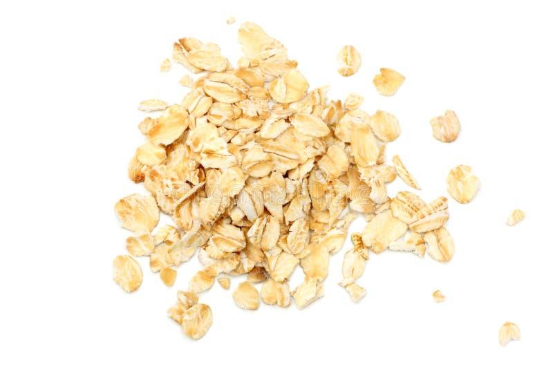 Oatmeal που απομονώνεται στο άσπρο υπόβαθρο Τοπ όψη στοκ φωτογραφίες