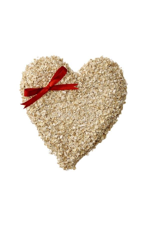 Oatmeal формы сердца стоковые фото