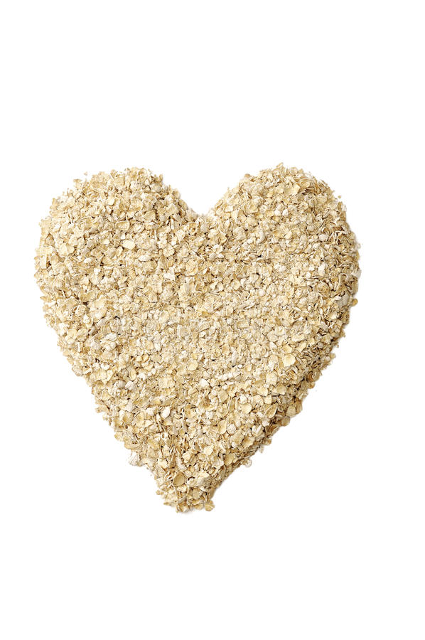 Oatmeal формы сердца стоковое фото rf