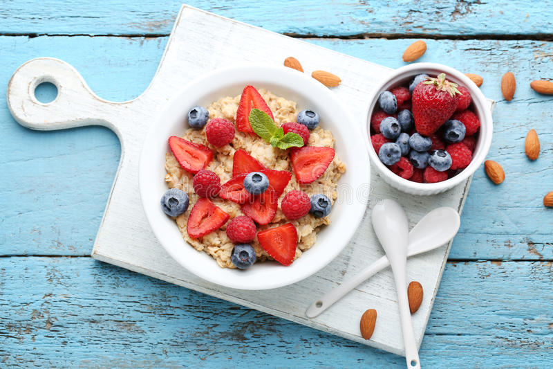 oatmeal fotografia stock