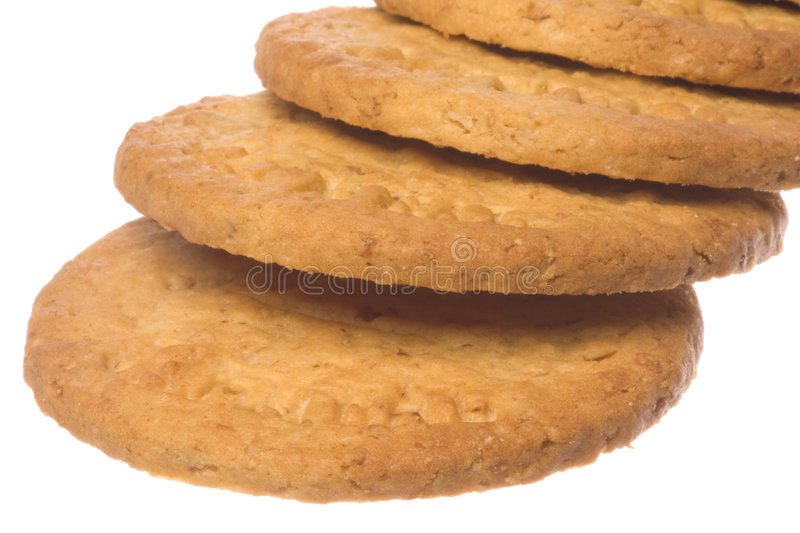 Download Oatmeal Biscuits Macro Isolated Stock Photo - Image: 9162254