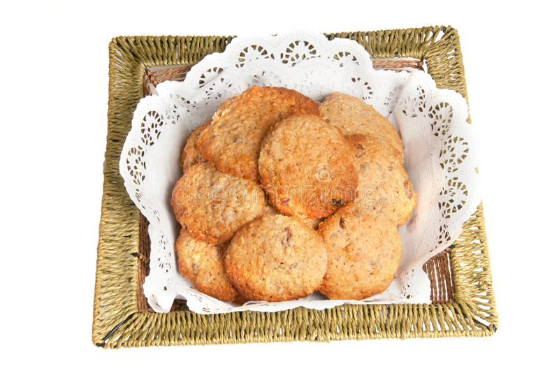 Download Oatmeal Cookies In A Basket Stock Image - Image: 26527485