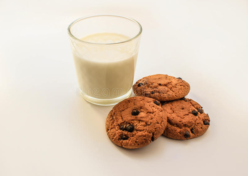 Oatmeal cookies with raisins royalty free stock image