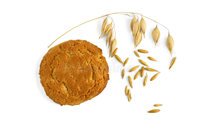 Download Oatmeal Cookies With A Stem Of Oats And Grains Stock Photo - Image: 22761780