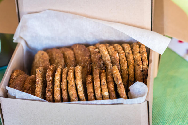 Oatmeal delicious Cookies stock image