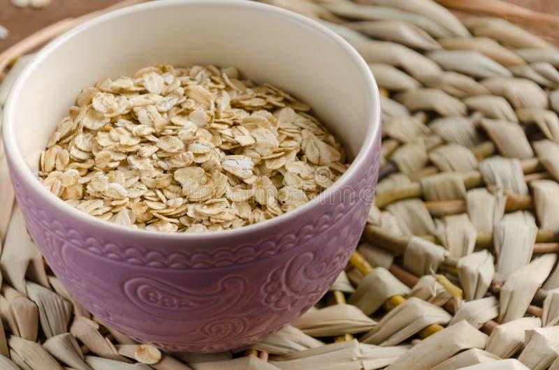 oatmeal Muesli, grains Beau fond Farine d'avoine crue guérissez photos libres de droits