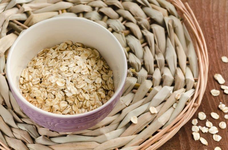 oatmeal Muesli, grani Bello fondo fotografie stock