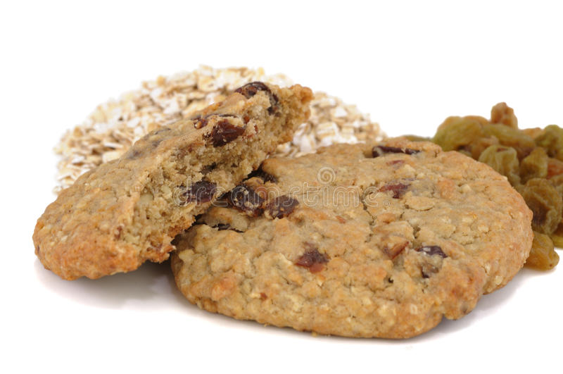 Oatmeal Raisin Cookies stock images