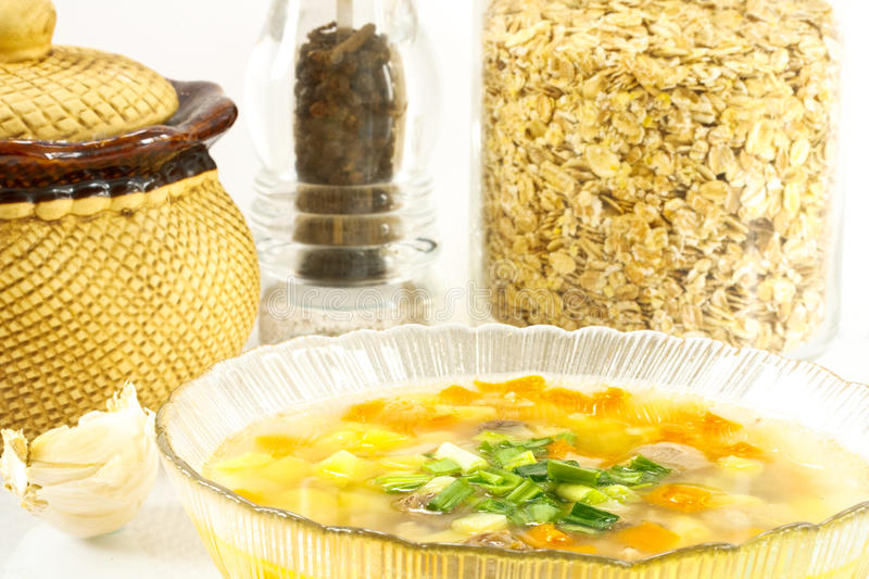 Oatmeal soup royalty free stock photo