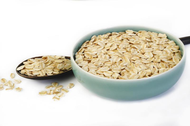 Oats in bowl stock images