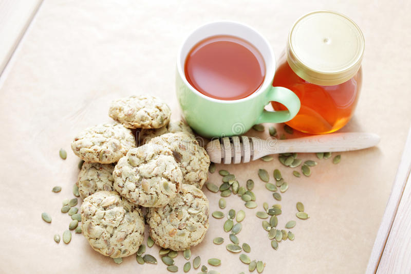 Oats cookies stock photography