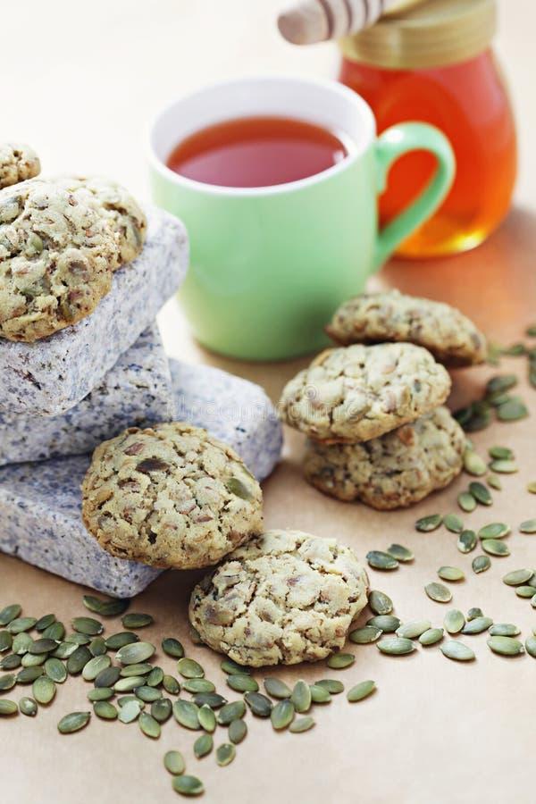 Oats cookies stock photos