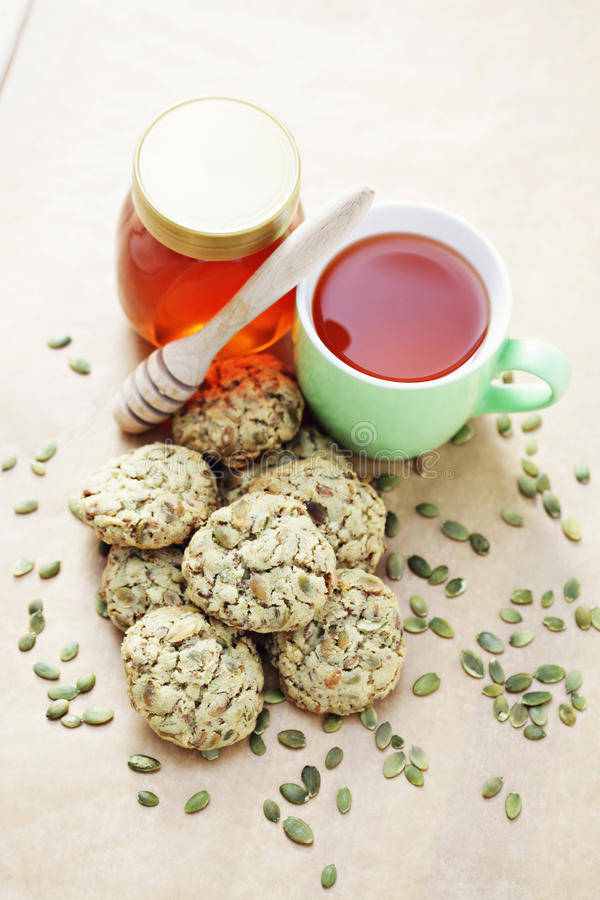 Oats cookies royalty free stock photography