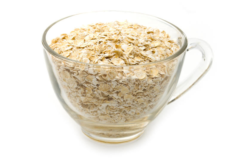Oats in cup royalty free stock image
