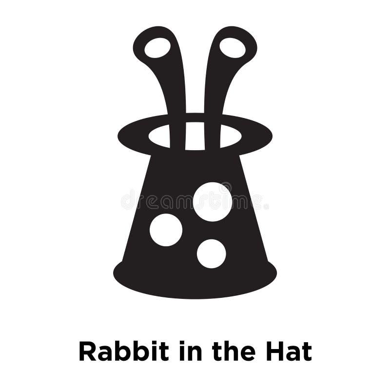 Oavbrutet tjata i hattsymbolsvektorn som isoleras på vit bakgrund, logo vektor illustrationer
