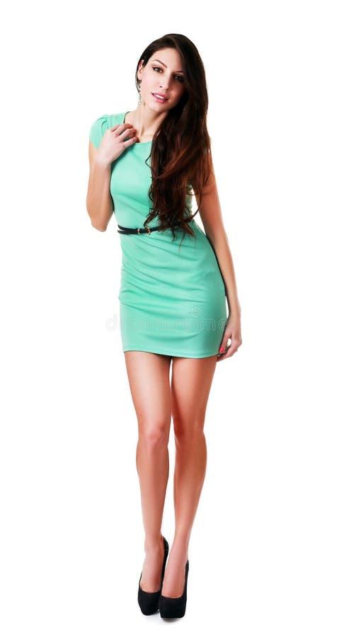 Oavkortad längd för kvinna royaltyfria foton