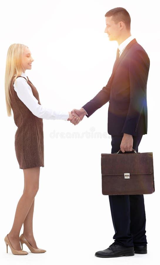 Oavkortad tillväxt för foto handskakningen mellan advokaten och klienten royaltyfri fotografi