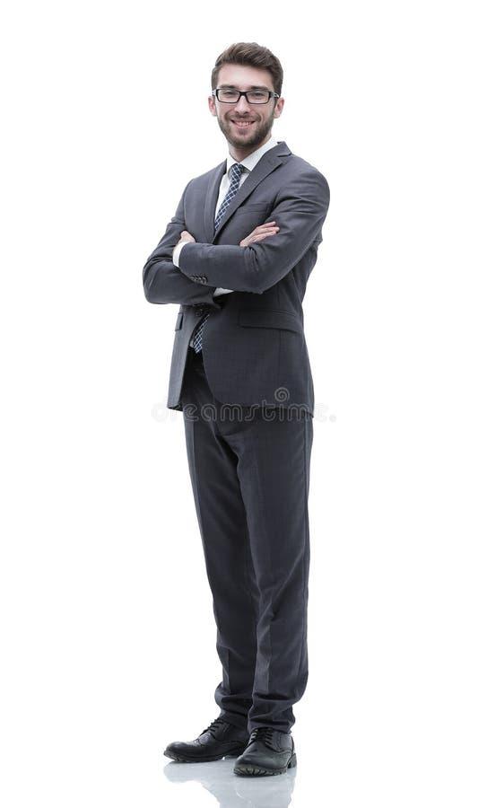 Oavkortad tillväxt för stående av en lyckad affärsman royaltyfri foto