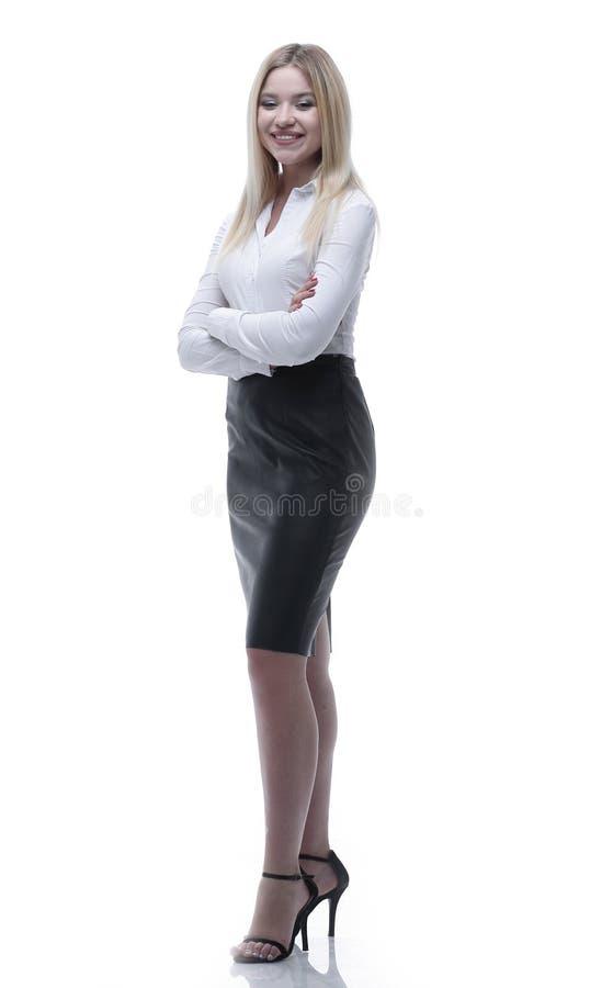 Oavkortad tillväxt för stående, en ung affärsdam arkivfoton