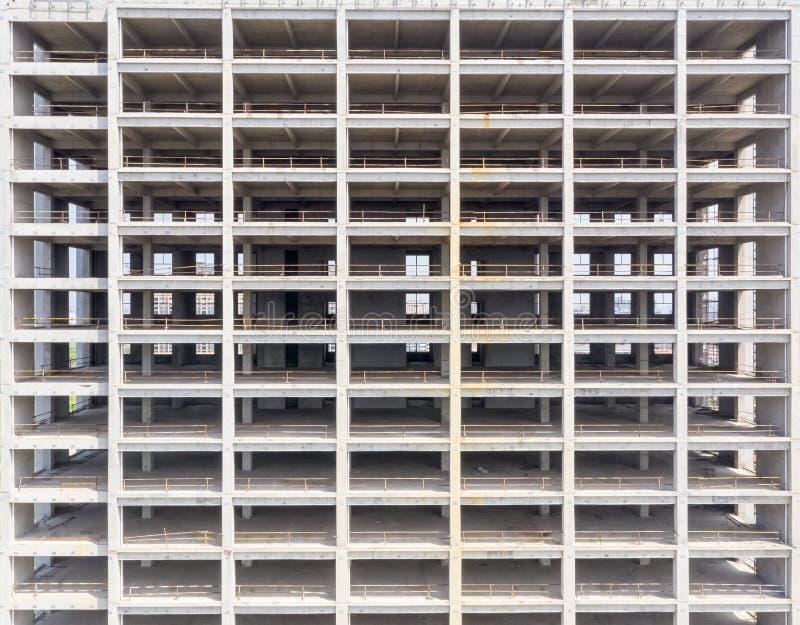 Oavslutad byggnadscloseup arkivfoto