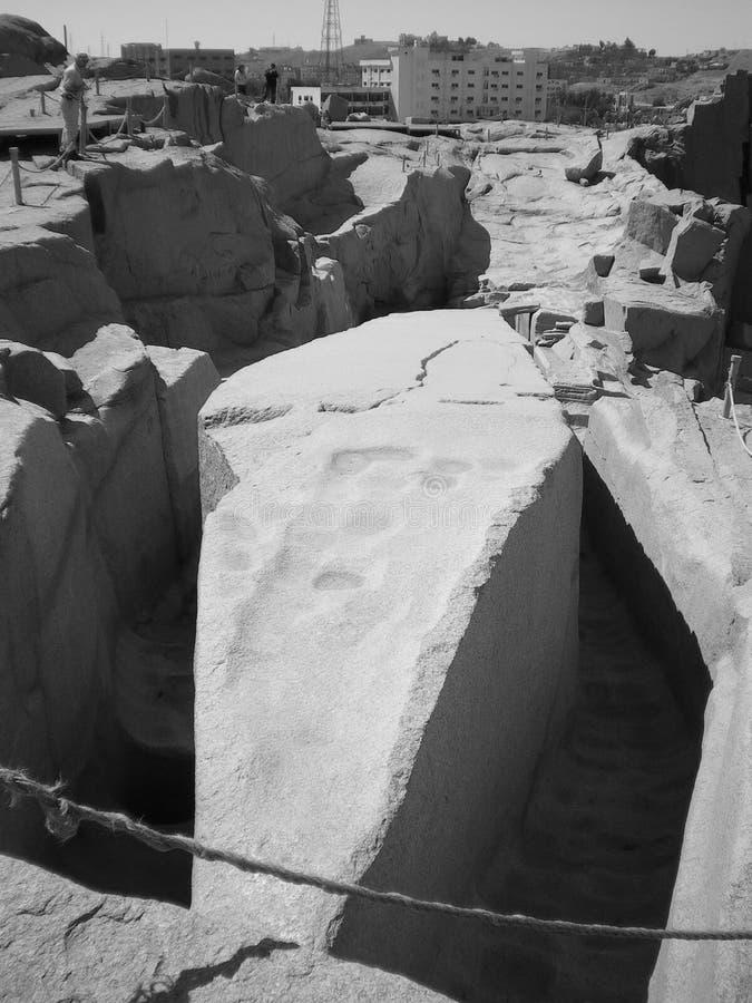 Oavslutad obelisk av Aswan fotografering för bildbyråer