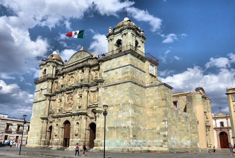 Oaxaca City. Image of the beautiful Cathedral of Oaxaca royalty free stock photography