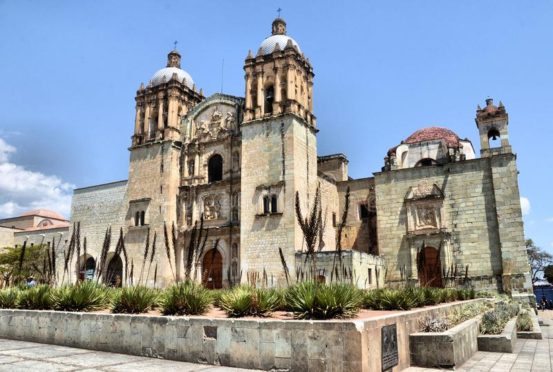 Oaxaca city. Image of the Church of Santo Domingo de Guzman in Oaxaca, Oaxaca Mexico stock image