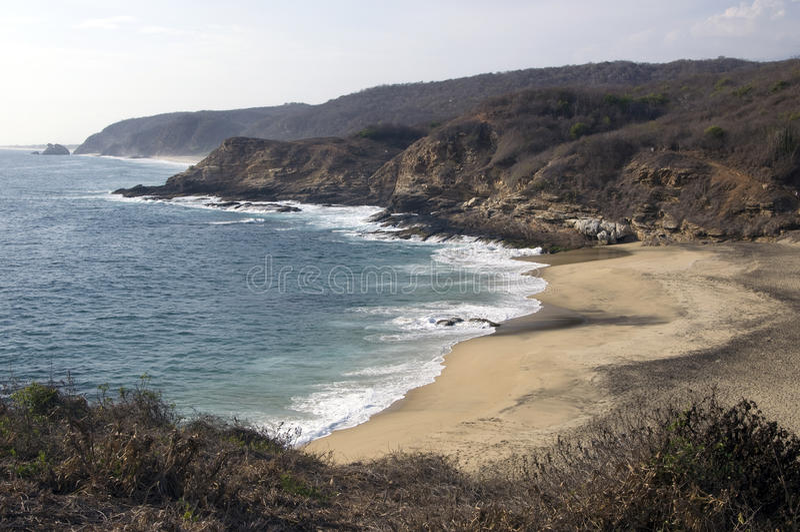 Oaxaca coastline,Mexico. Beach near Mazunte in Oaxaca, Mexico stock image