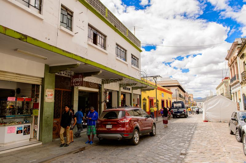 Oaxaca de Juarez, Mexico. OAXACA, MEXICO - OCT 31, 2016: Architecture of Oaxaca de Juarez, Mexico. The name of the town is derived from the Nahuatl name stock images