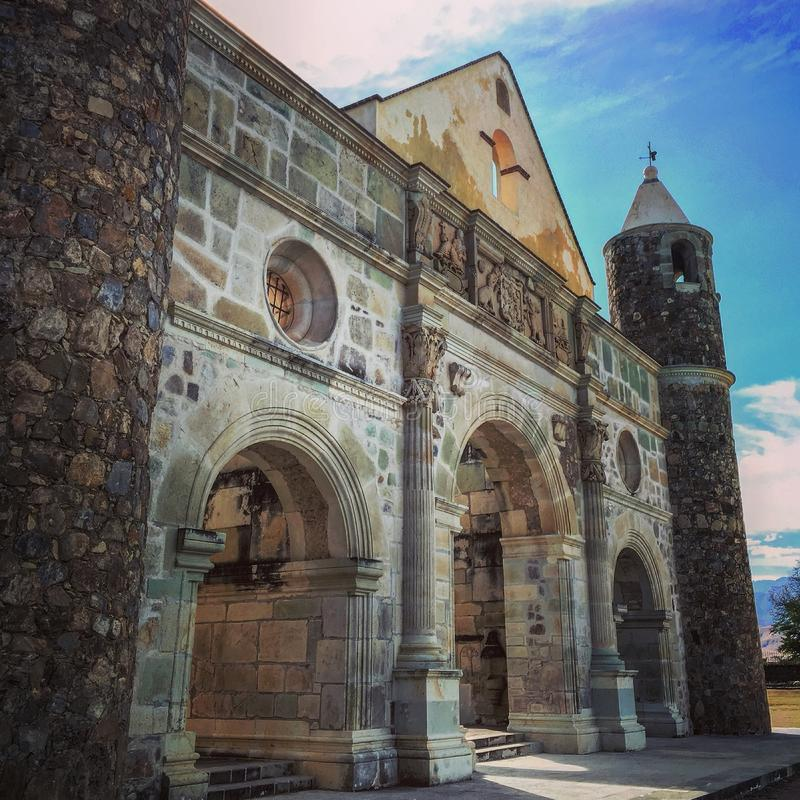 Oaxaca ex convent. Its located near Oaxaca city stock photography